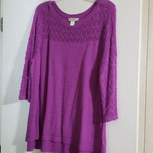 Open weave sweater